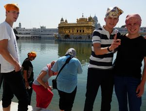 Besichtigungstour in Indien